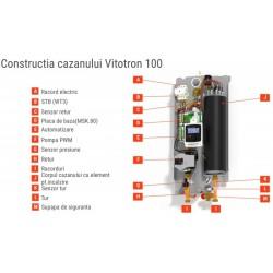 Centrala electrica VIESSMANN VITOTRON 100 VLN3 12.0 - 24.0 kW numai incalzire (Z020842) - functionare comandata de temperatura de ambianta