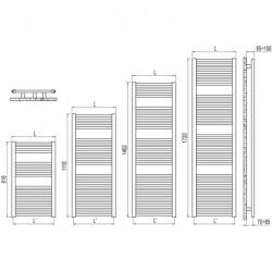 IRSAP Radiator de baie  - ARES 500x1462
